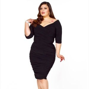 Laura Byrnes California Black Monica Wiggle Dress